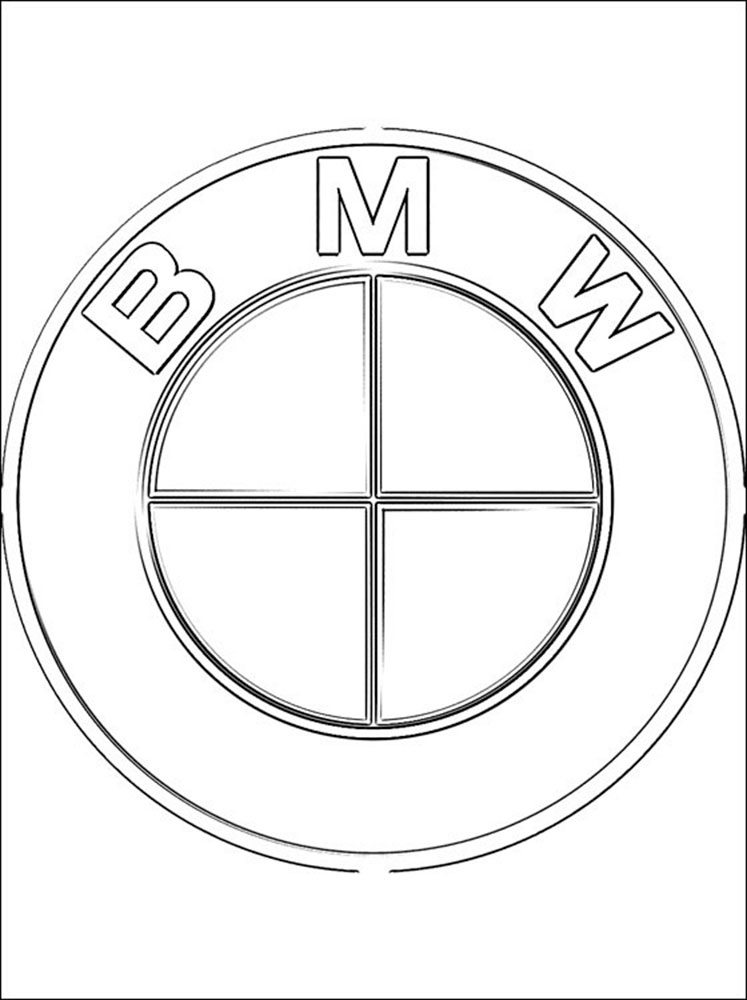 Раскраски машин БМВ