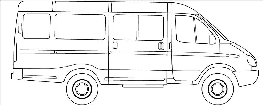 Раскраски автомобилей Газель