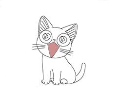 Как рисовать аниме кота