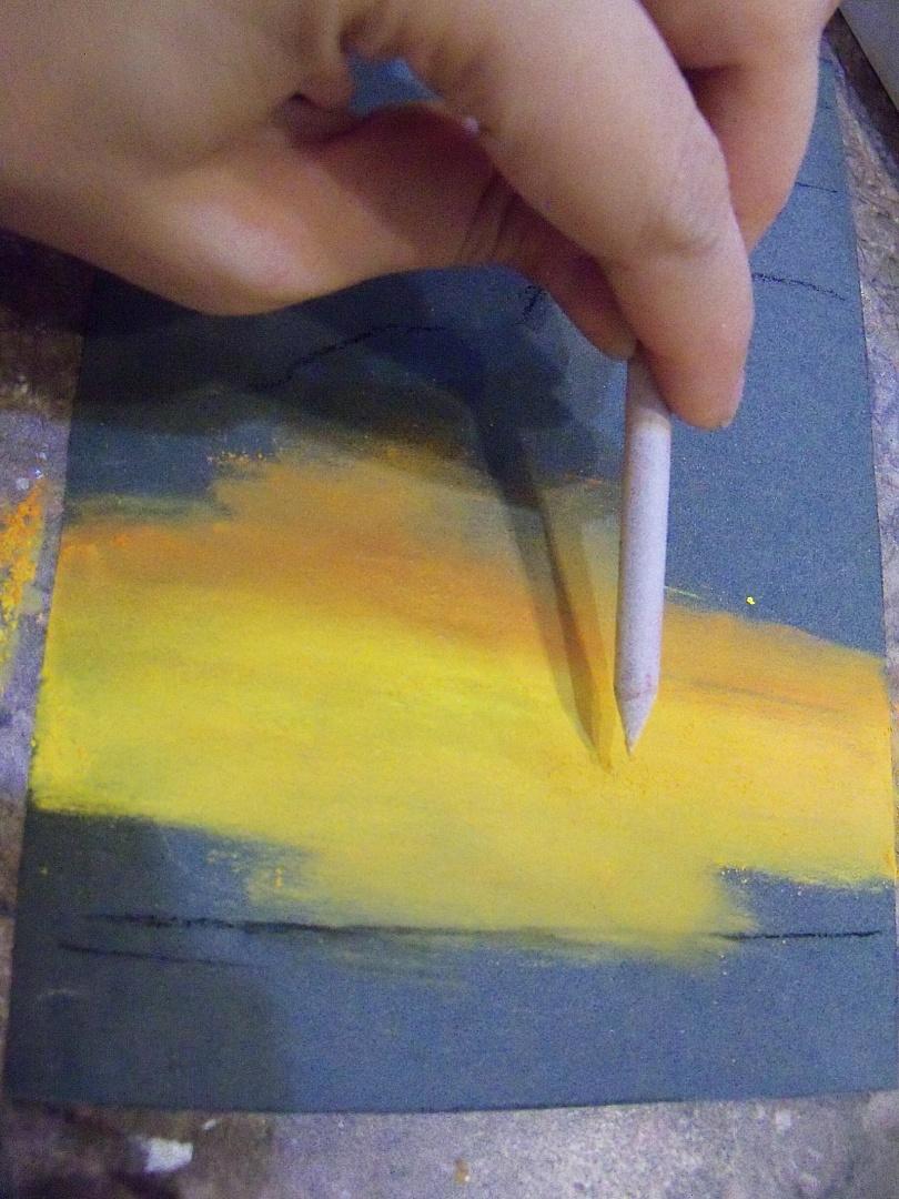 Рисуем сухой пастелью поэтапно для начинающих видео