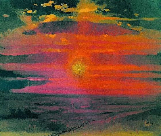 А.И. Куинджи «Закат. Берег моря» 1876-1890гг.
