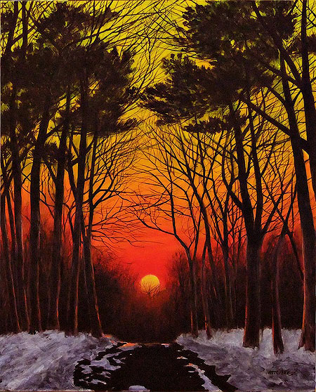 Лео Макри «Закат зимой»