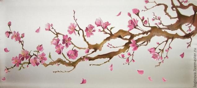 Схема рисования сакуры