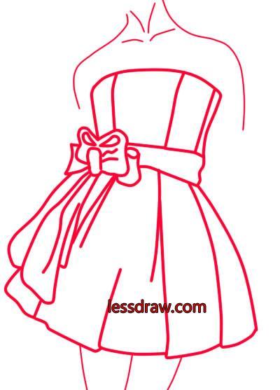 ad6835bdcf1 Как нарисовать платье поэтапно для детей