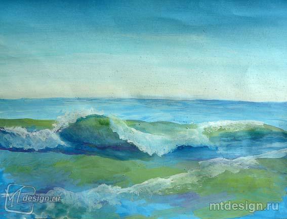 Нарисованные море как нарисовать