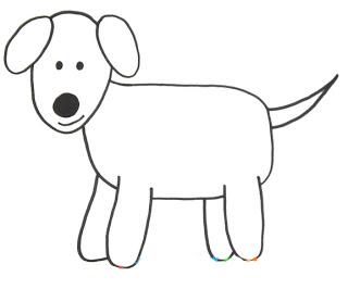 Рисовать поэтапно собаку детям