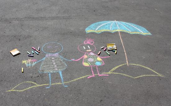 Конкурс я рисую лето рисунки на асфальте