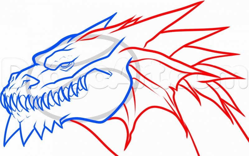Cool easy to draw dragons