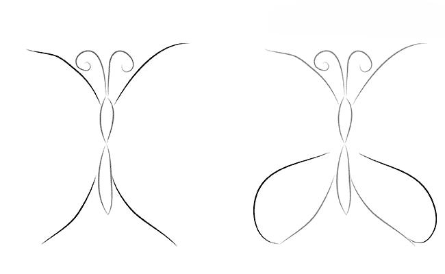 Как нарисовать бабочку для 4-5 лет поэтапно