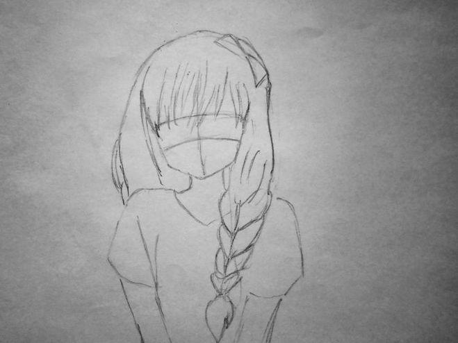 Как нарисовать аниме девушку голую
