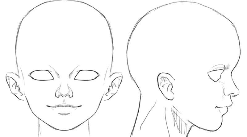 Рисунки из аниме голову