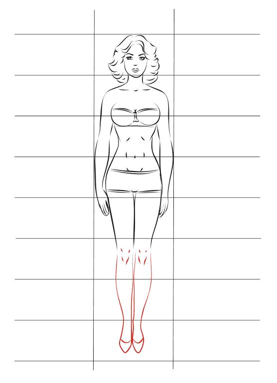 Схема девушек в полный рост