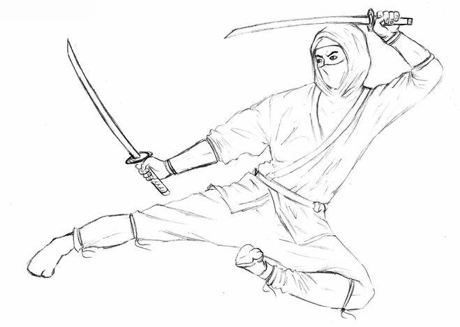 Как нарисовать ниндзя поэтапно: http://juicep.ru/?p=4076