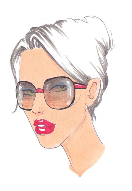 Девушки с очками как рисовать