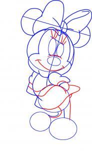 Рисовать девочку микки мауса