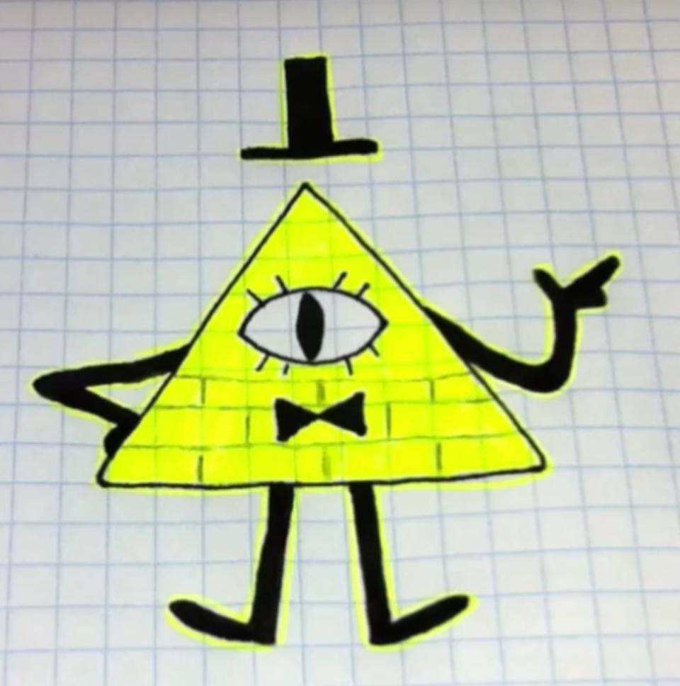 Как сделать Билла шифра из бумаги. UA-tv 3