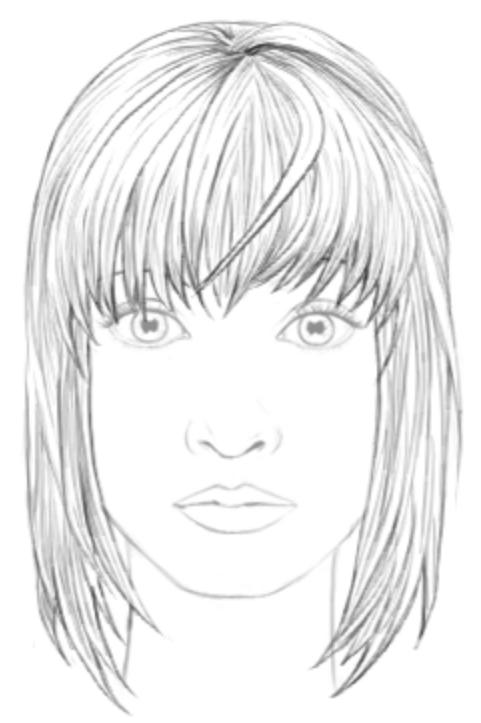 как рисовать волосы девушки карандашом