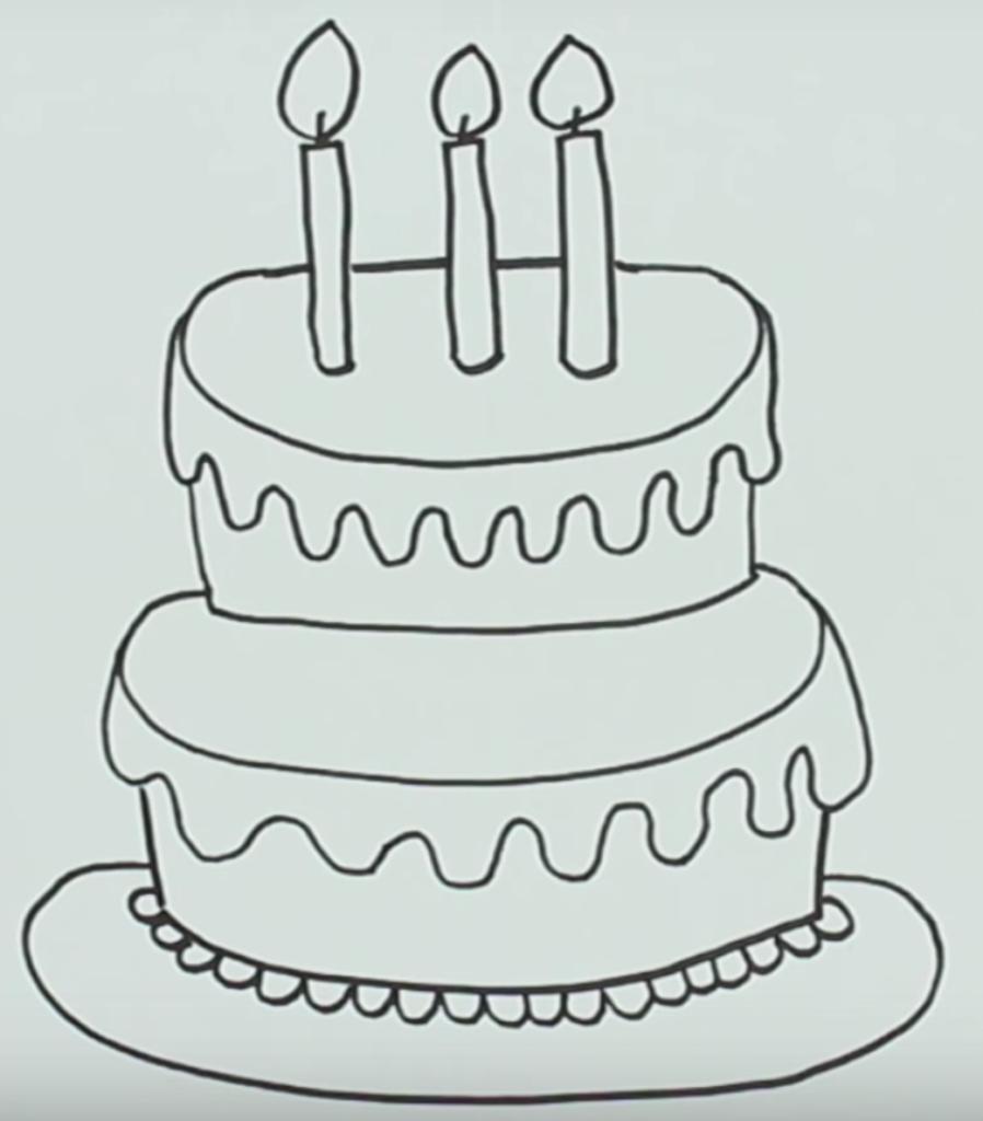 своими нарисовать руками торт