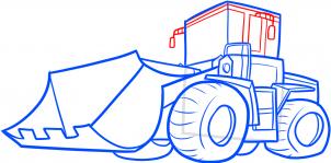 Поезд поэтапный рисунок