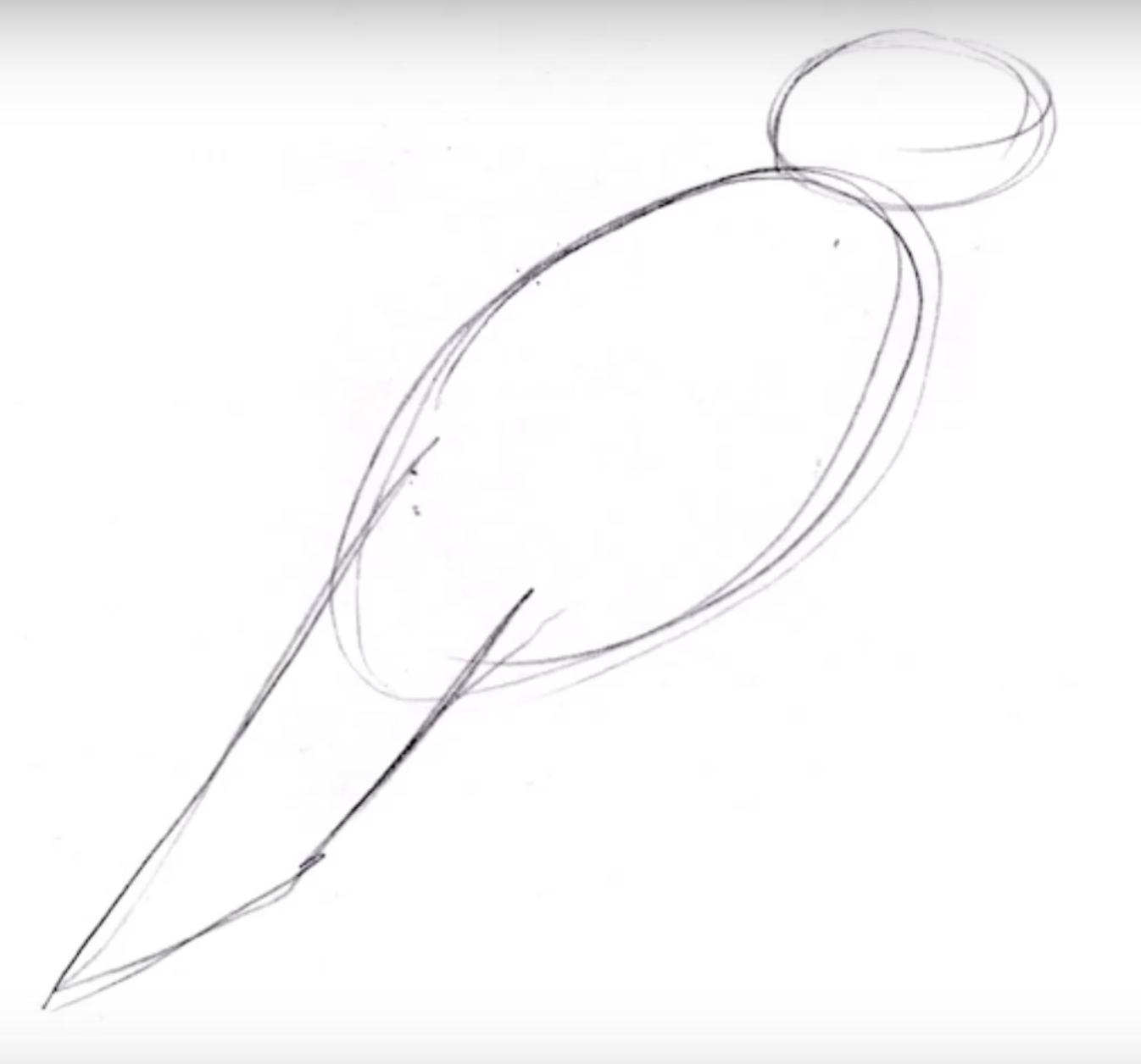 Как нарисовать ребенком ворону поэтапно