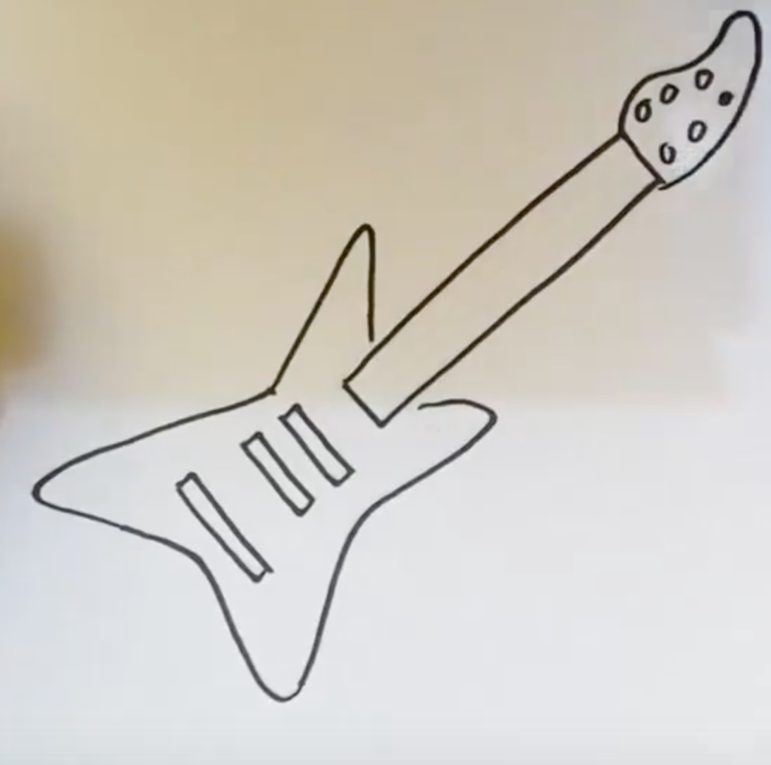 Рисунок электрогитары