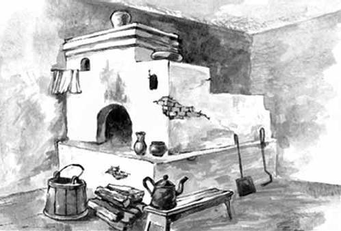 как разукрасить русскую печь