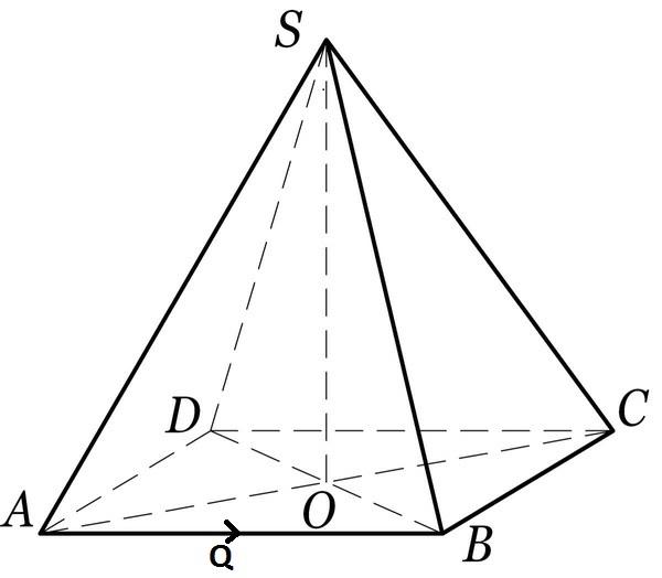 На рисунке изображена правильная четырёхугольная пирамида