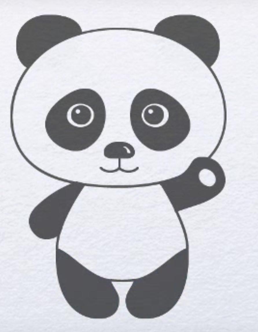 Как нарисовать панду для поэтапно
