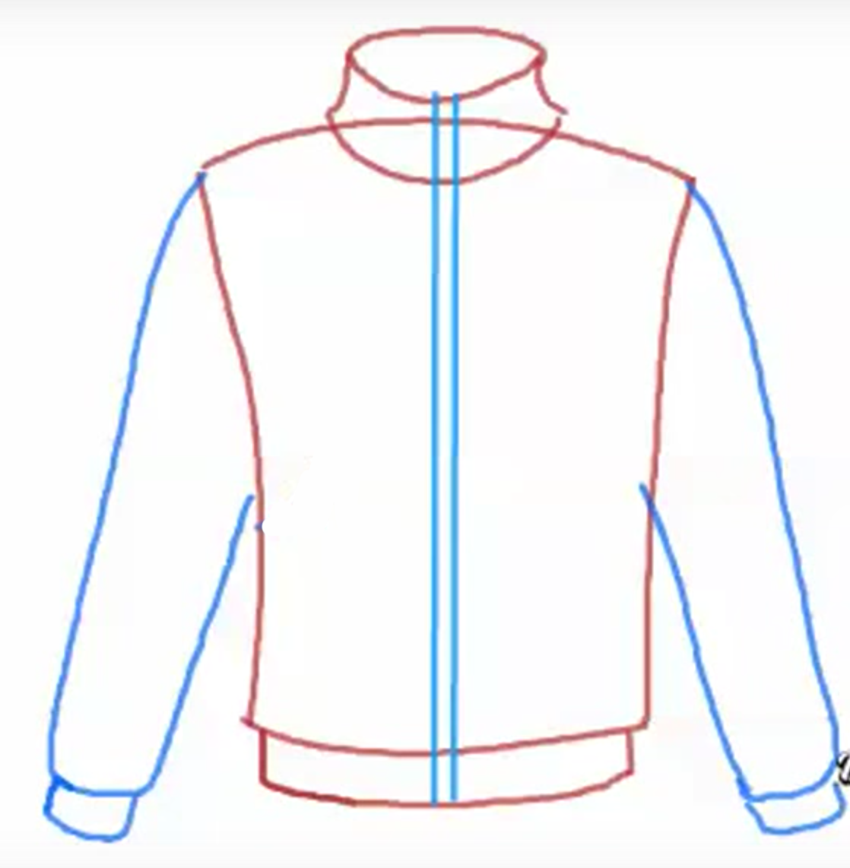 Как нарисовать одежду для человека карандашом поэтапно