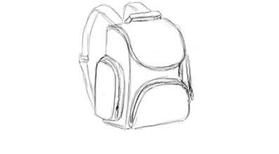 Рисунки рюкзака карандашом как сделать рюкзак из бумаги видео