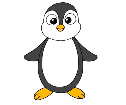 Как рисовать пингвина ребенок