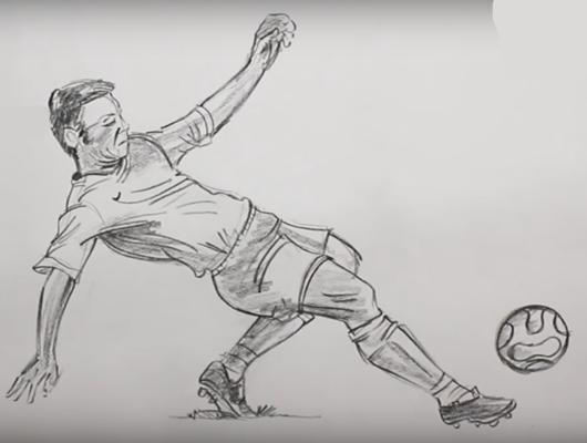 Как нарисовать поэтапно спортсмена 66