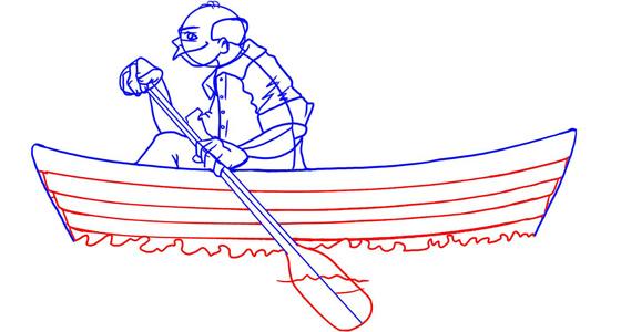 как рисовать лодки катера