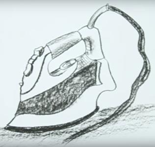 как нарисовать утюг