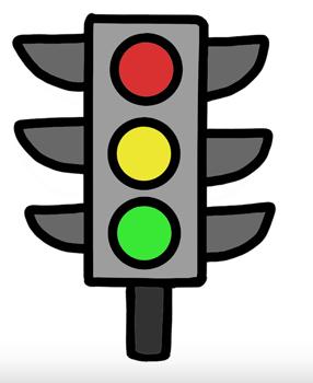 картинки светофор рисунки
