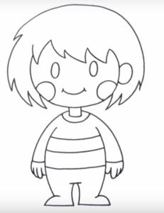Как нарисовать чару из undertale карандашом поэтапно