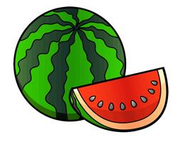 Раскраска арбуз