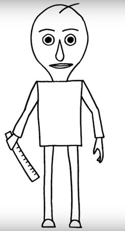 Как нарисовать Балди и других персонажей из игры